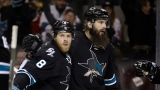 Joe Pavelski et Brent Burns
