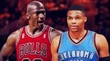 Michael Jordan et Russell Westbrook