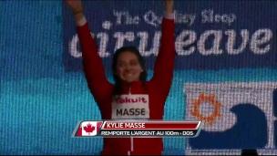 Kylie Masse gagne l'argent