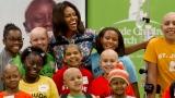 Michelle Obama a visité les enfants malades de l'hôpital St.Jude à Memphis.