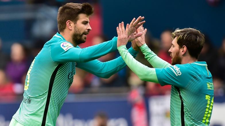 Gerard Piqué et Lionel Messi