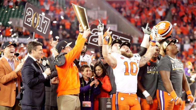 Les Tigers de l'Université Clemson et le trophée de champion