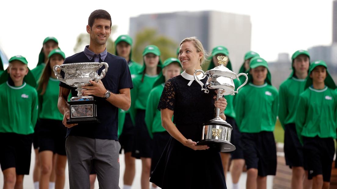 Novak Djokovic et Angelique Kerber