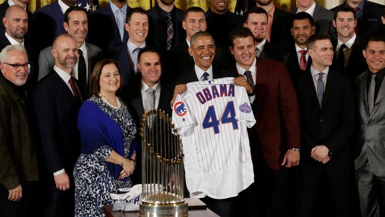 Barack Obama et les Cubs de Chicago