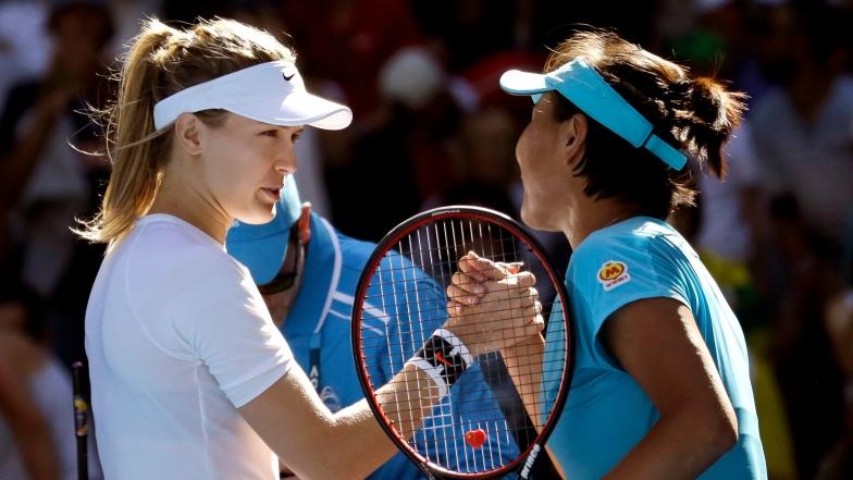 Eugenie Bouchard et Shuai Peng