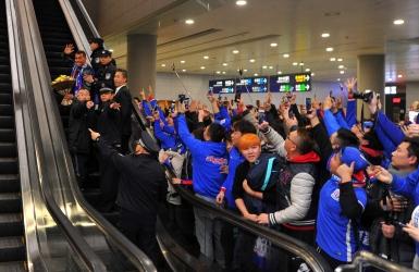 Tevez accueilli en grand à Shanghai