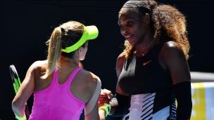 Serena continue sa route