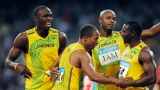Usain Bolt, Michael Frater, Asafa Powell et Nesta Carter