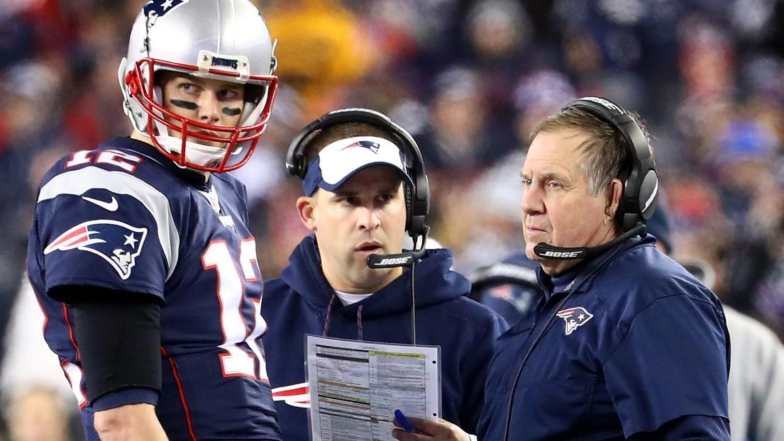 Tom Brady, Josh McDaniels et Bill Belichick