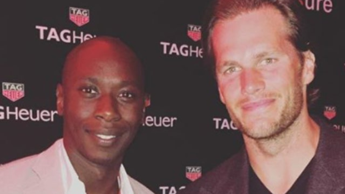 Hassoun Camara et Tom Brady