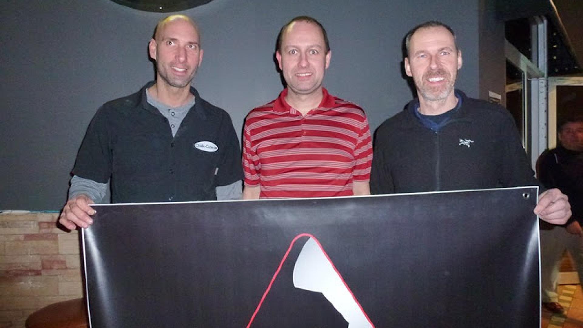 Martin Daigle, Alain Parent, Danny Hewitt