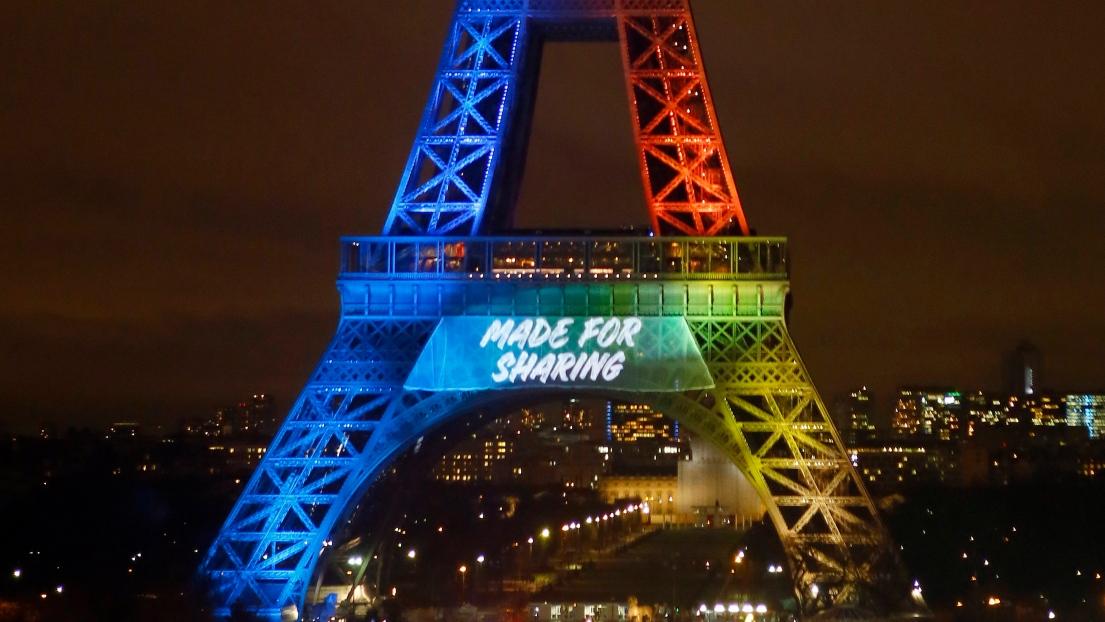 « Made for Sharing » : le slogan de Paris, candidate pour l'organisation des JO de 2024.