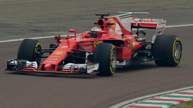 Kimi Räikkönen à bord de la Ferrari SF70H