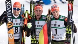 Bjoern Kircheisen, Johannes Rydzek et Eric Frenzel