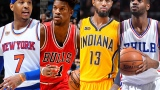 Carmelo Anthony, Jimmy Butler, Paul George et Nerlens Noel