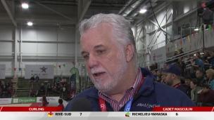 Philippe Couillard aux Jeux du Québec