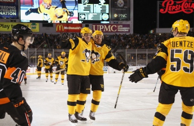 Victoire en plein air des Penguins