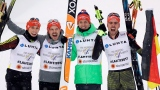Björn Kircheisen, Eric Frenzel, Fabian Riessle et Johannes Rydzek