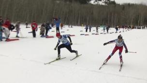 Des courses serrées en ski de fond!
