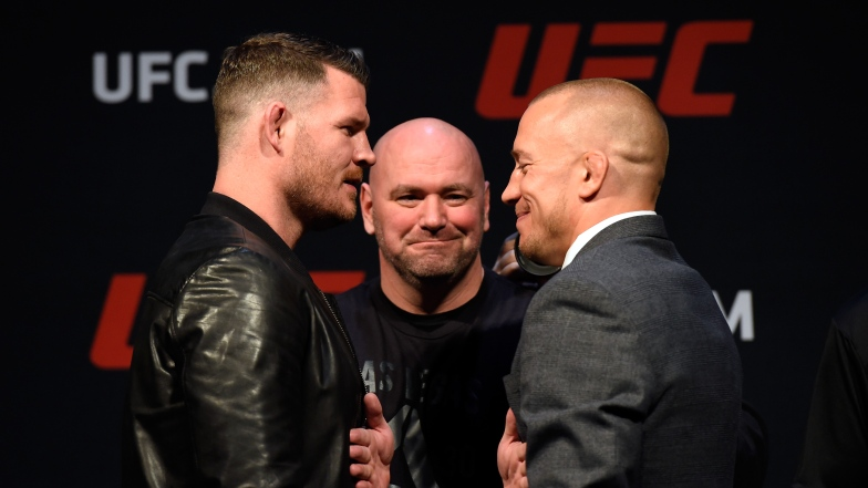 Georges St-Pierre et Michael Bisping