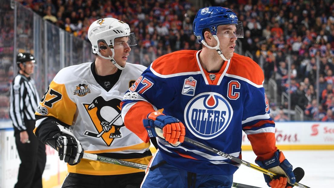 Sidney Crosby et Connor McDavid