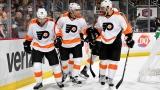 Les Flyers célèbrent le but de Valtteri Filppula