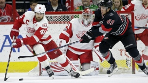 Red Wings 4 - Hurricanes 3 (Prol.)