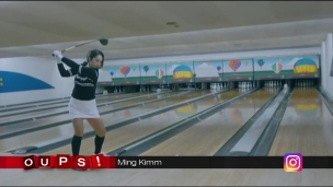 Oups! Ming Kimm joue au golf / bowling