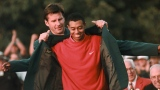 Nick Faldo et Tiger Woods en 1997