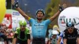 Michele Scarponi, vainqueur de la première étape du Tour des Alpes, lundi dernier.