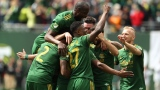 Les Timbers de Portland célèbrent un but