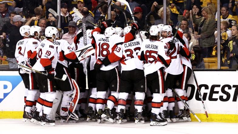 Les Sénateurs ont éliminé les Bruins en six matchs, dimanche