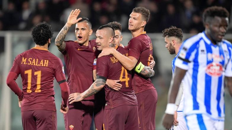 Les joueurs de l'AS Roma