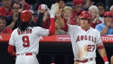 Cameron Maybin et Mike Trout