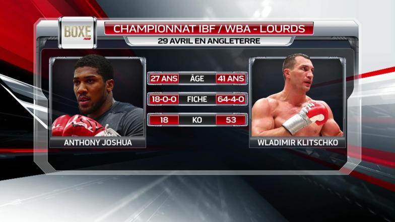 Un combat très intrigant entre Joshua et Klitschko