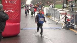 La pluie n'arrête pas les athlètes au Défi Sportif
