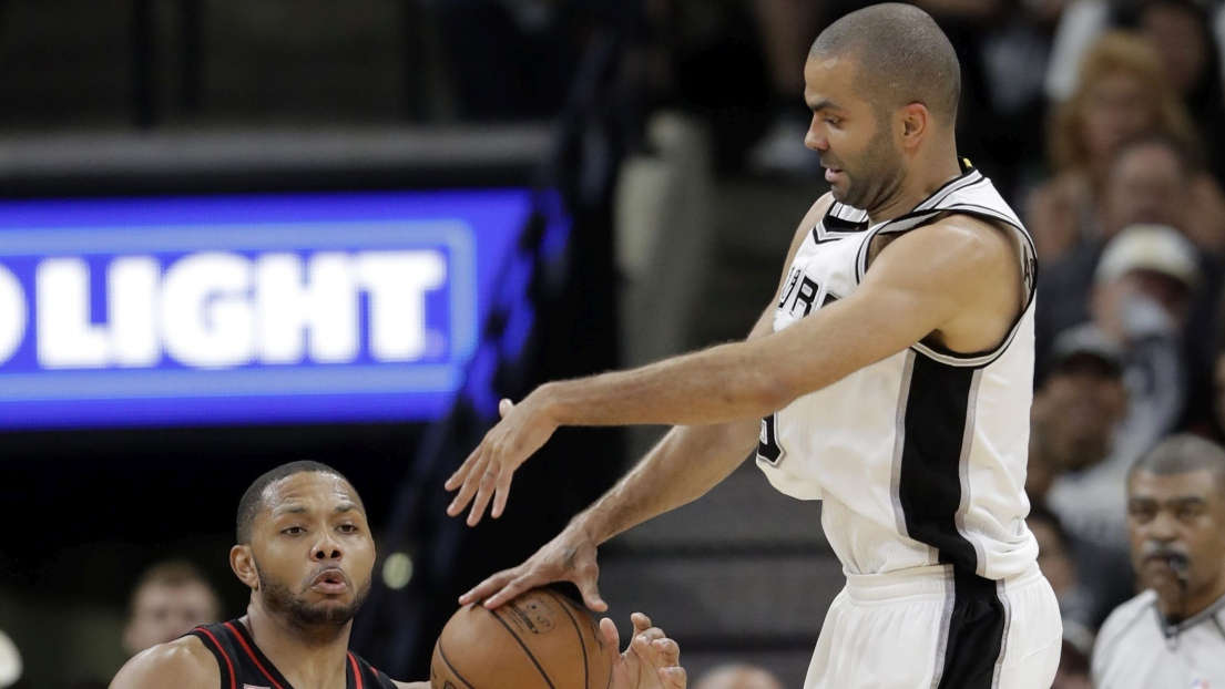 Tony Parker sorti sur blessure face à Houston en play-offs — NBA