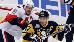 Dion Phaneuf et Sidney Crosby