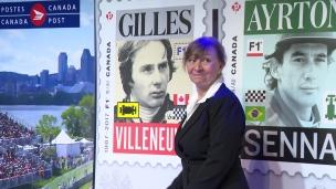 Un timbre en l'honneur de Gilles Villeneuve