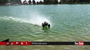 Oups! Des autos téléguidés sur l'eau