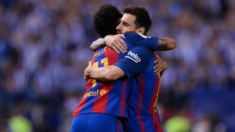 Neymar et Lionel Messi