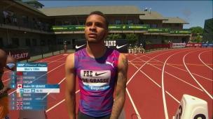 Andre De Grasse au 4e rang du 100m