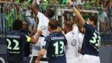 Les joueurs de Wolfsburg célèbrent