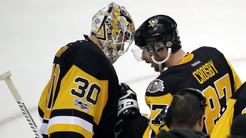 Matt Murray et Sidney Crosby