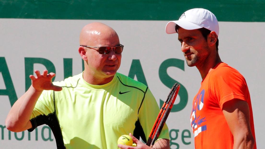 Andre Agassi et Novak Djokovic
