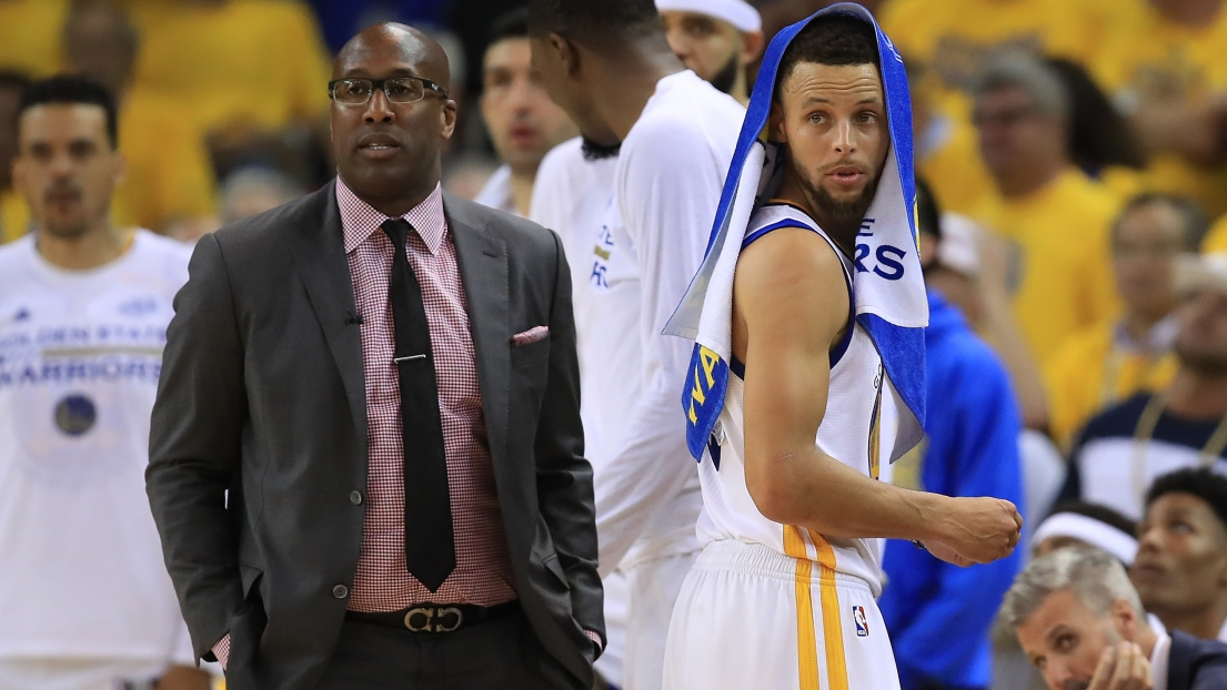 Mike Brown et Stephen Curry