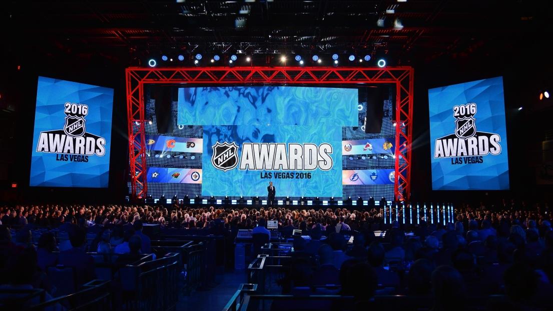 La remise des trophées de la LNH à Las Vegas.