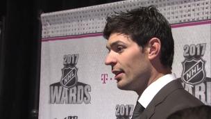 Un Carey Price détendu devant les médias à Las Vegas