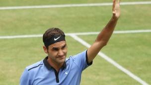 Federer en finale à Halle