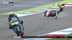 Un pilote de Moto GP évite le pire